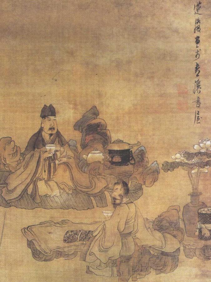 陈洪绶《停琴品茗图》-900-1200